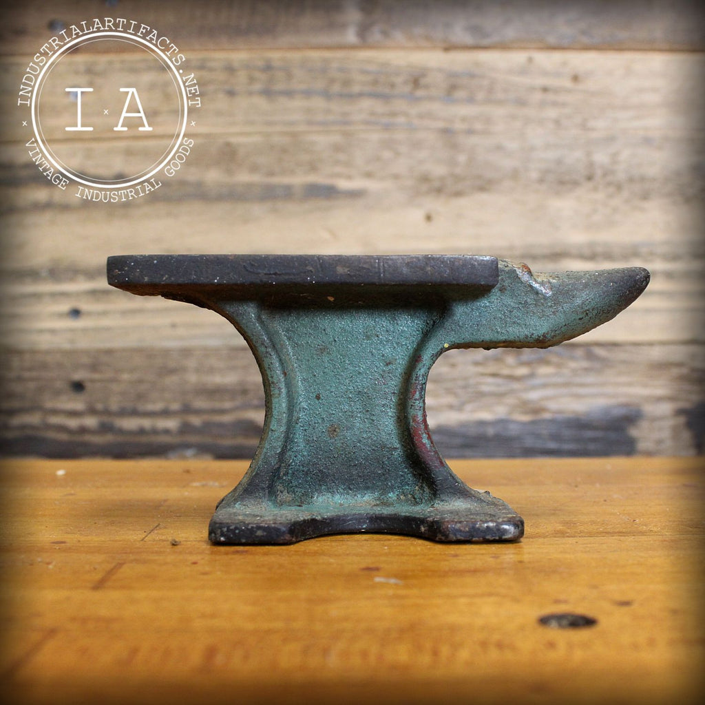 Vintage Industrial Cast Iron Blacksmith Tinsmith Japan Anvil Paperweight Decor