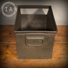 Vintage Industrial Metal Storage Bin Box Organizer Tote Drawer Planter Tray A-S-E CO Aurora ILL