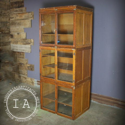 Antique 1887 Globe Wernicke Glass Door Book Case Cabinet