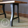 Industrial Cast Iron Machine Base Maple Butcher Block Table Desk Kitchen Island