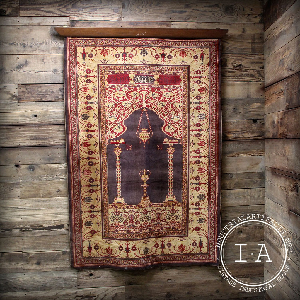 Vintage Intricately Woven Turkish Style Carpet