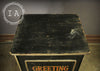 Antique 8 Drawer Wooden Greeting Card Advertisement Sign Storage