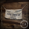Vintage Industrial Currier Lumber Company Carpenter's Apron Wall Hanging Decor