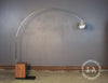 Mid Century Chrome Arc Floor Lamp