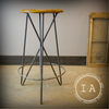 Vintage Industrial Modern Minimal Hairpin Leg Bar Shop Stool Chair Handmade