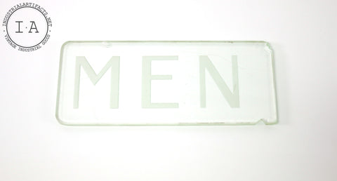 Glass Mens Restroom Sign