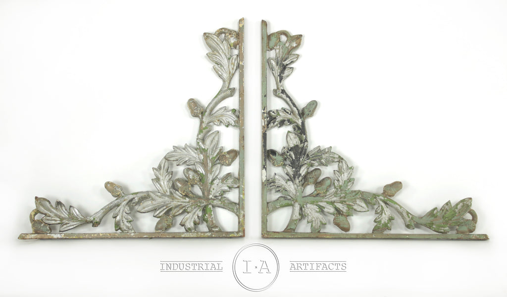 Picture of: Wrought Iron Corner Brackets Industrial Artifacts