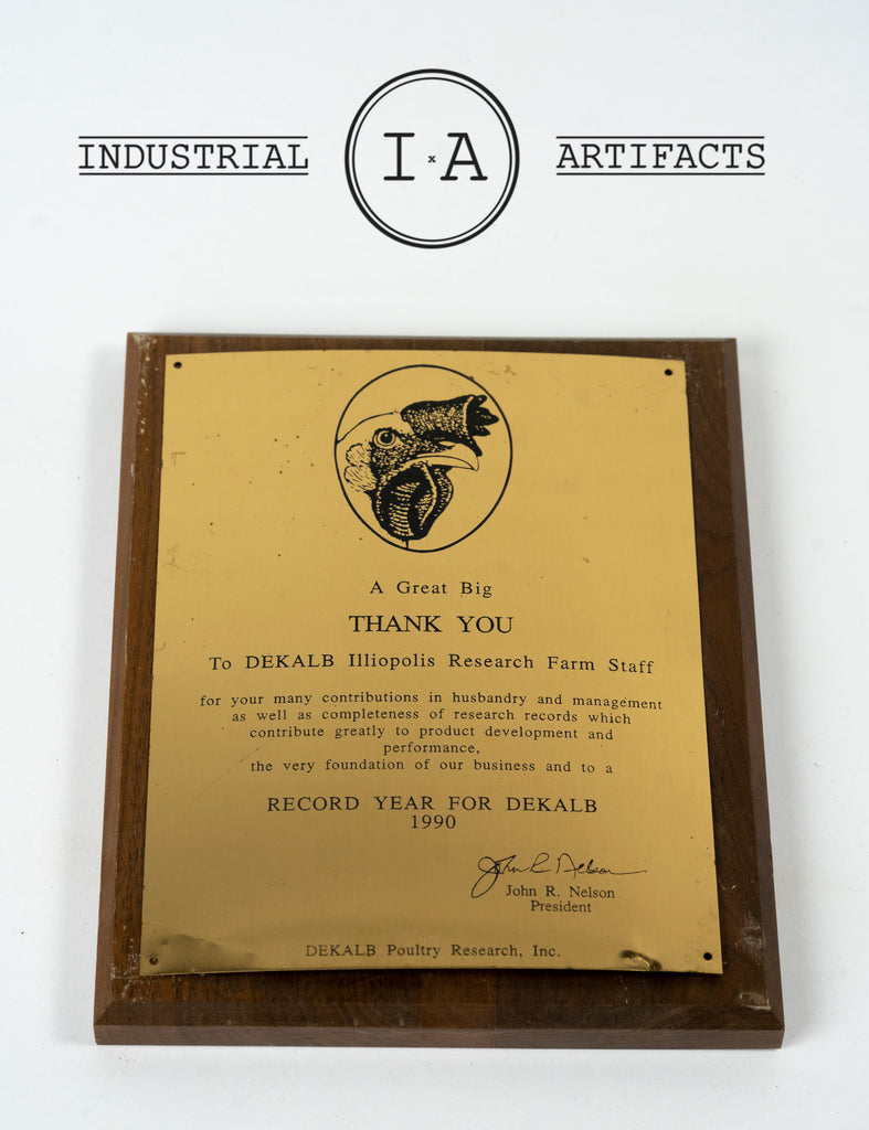 Vintage DeKalb Poultry Farming Research Award