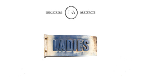 Vintage Ladies Restroom Flange Sign