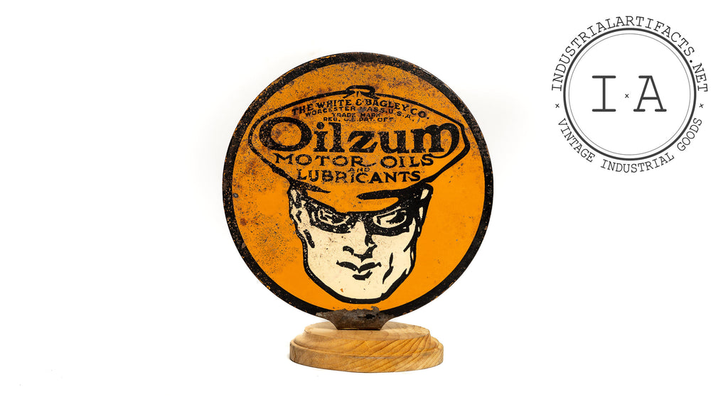 Original Oilzum Motor Oil Lubester Paddle Sign