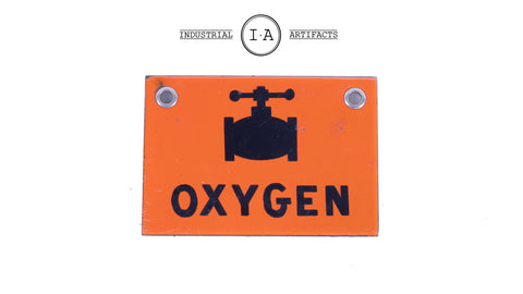 American Industrial Porcelain Utility Sign
