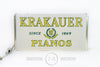 New Old Stock Krakauer Pianos Sign