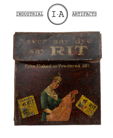 C. 1920 Rit Fabric Dye Tin Sign