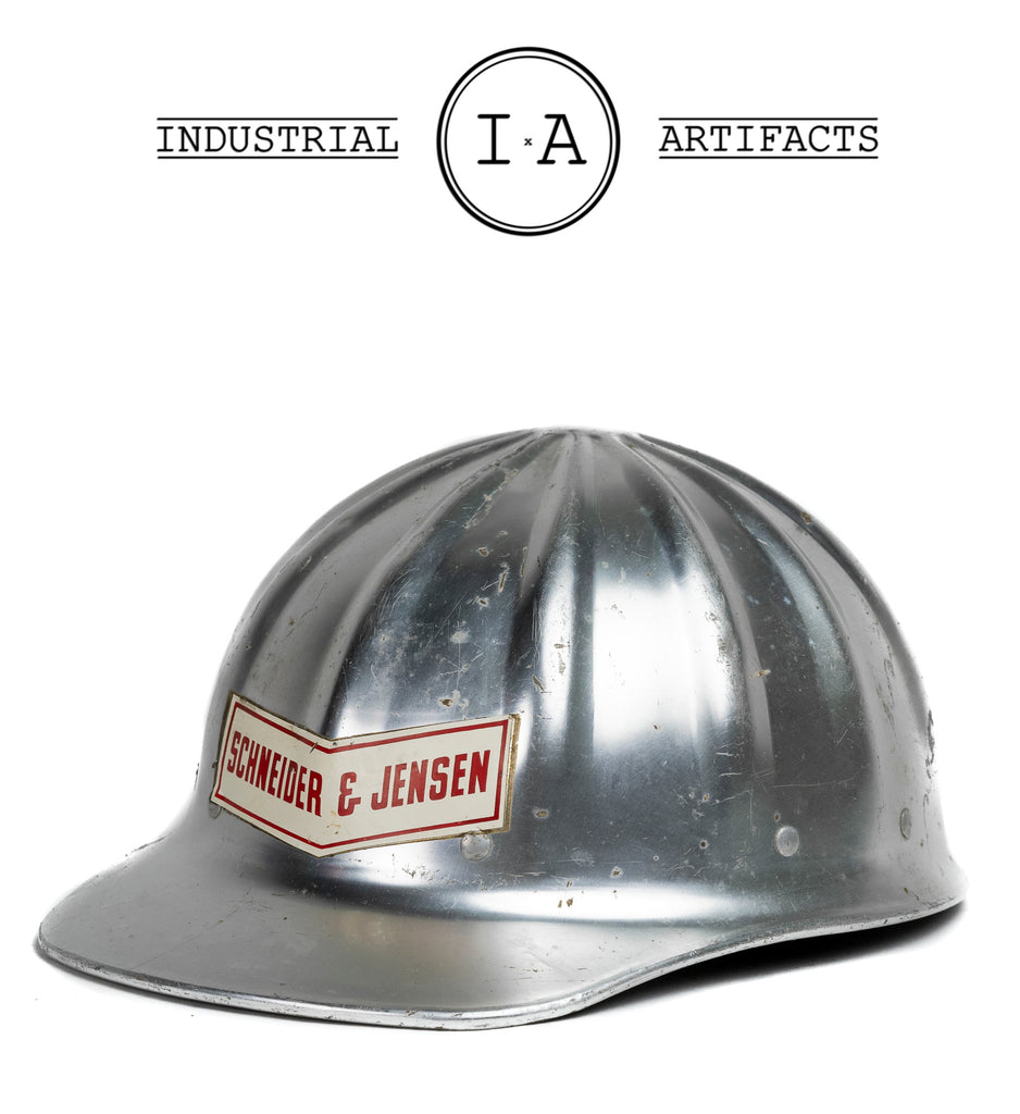 Vintage Industrial Hard Hat by Schneider & Jensen