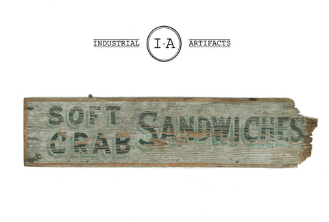 C. Early 1900s Hand Painted Wooden Restaurant Sign