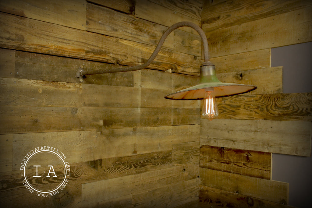 Vintage Industrial Gas Station Barn Sconce