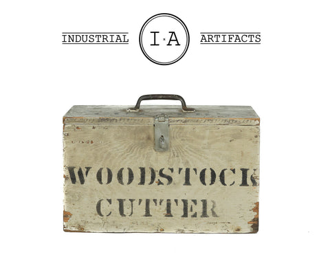 C. 1930 Hand Stenciled Industrial Woodworkers Chest