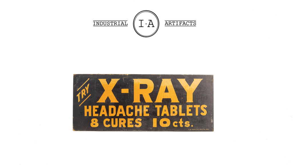 Antique X-Ray Cures Medical Ad Piece