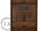 Antique Quartersawn Executive Wooden Filing Cabinet