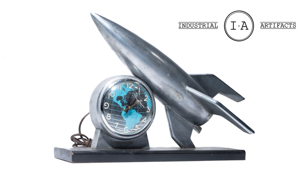 1950 Space Age Rocket Clock by Lanshire