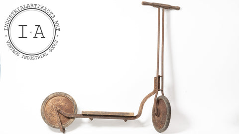 Antique 1920s Depression Era Childrens Kick Scooter