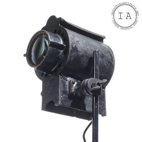 American Industrial Cast Iron Theater Spot Light by Brenkert