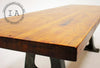 Industrial Butcher Block  w/ Early Cast Iron Machine Base Dining Table