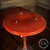 Vintage Mid Century Modern Orange Saucer Sight Light Table Lamp