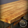 Vintage Industrial Butcher Block Kitchen Table Cast Iron Price Machine Legs