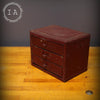 Vintage Industrial Red 3 Drawer Parts Cabinet Jewelry Box