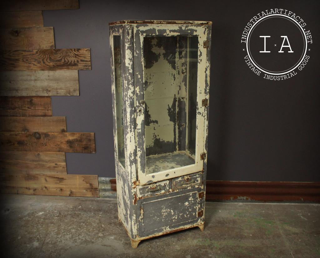 Antique Apothecary Medical Dental Cabinet