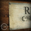 Vintage Industrial Metal Rialto Corporation Advertising Trade Sign