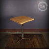 Vintage Industrial Cast Iron Adjustable Artists Drafting Table Elm Wood Top