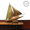 Vintage Art Deco Sailboat Table Lamp Marine Model