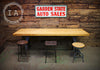 Vintage Industrial Butcher Block Top w/ Early Cast Iron Machine Base Dining Table