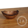 Vintage Walnut Bowl Jewelry Container