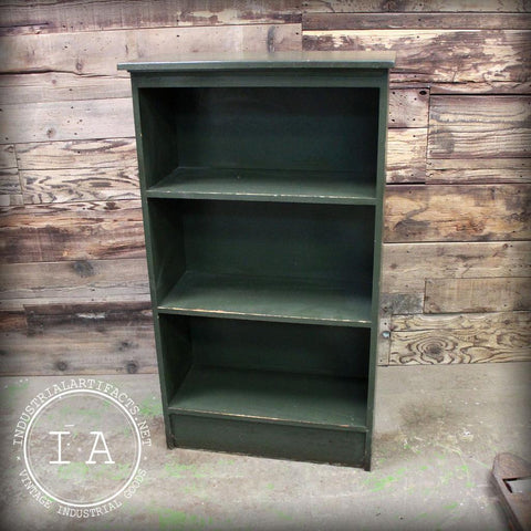 Vintage Wood 3 Shelf Bookcase