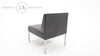 Steelcase Mid Century Modern Black Vinyl Furniture Set Herman Miller Knoll