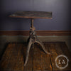 Vintage Industrial F. A. Hardy Oxidized Copper Adjustable Artists Drafting Table