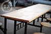 Vintage Industrial 1920's Cast Iron Swing Stool 8 Seat Sani Lunchroom Table