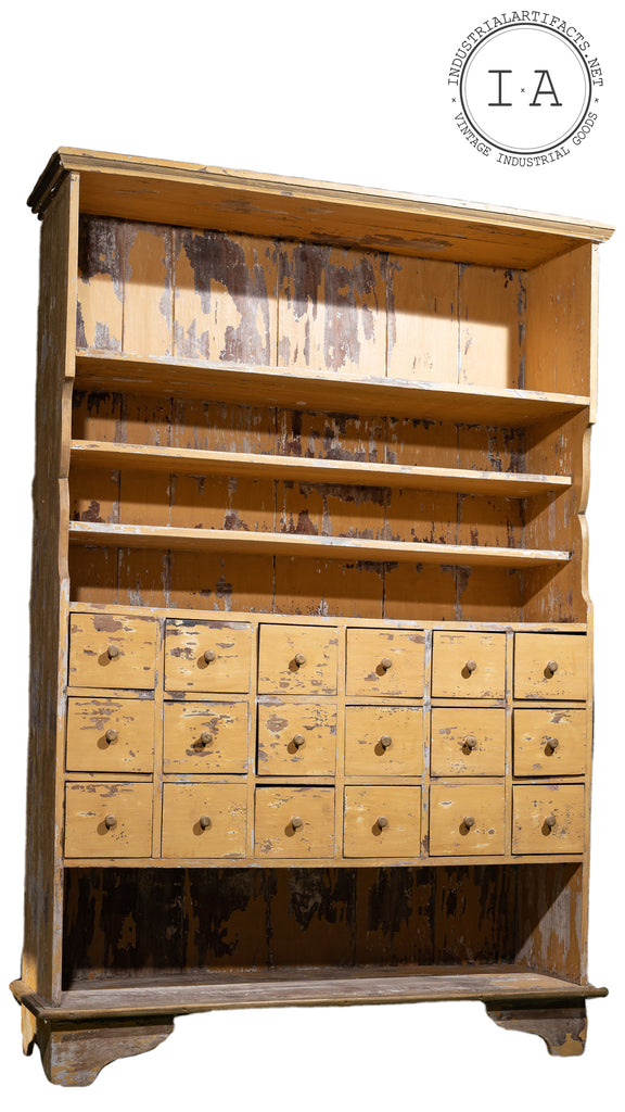 18 Drawer Apothecary Cabinet With Built In Shelves