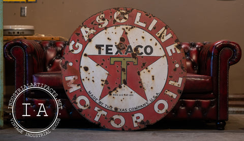 Antique Porcelain Texaco Advertising Sign