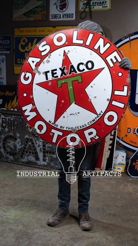 ORIGINAL Texaco DSP Porcelain Sign 42