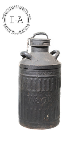 Wadham's Oil And Grease Company 10 Gallon Container