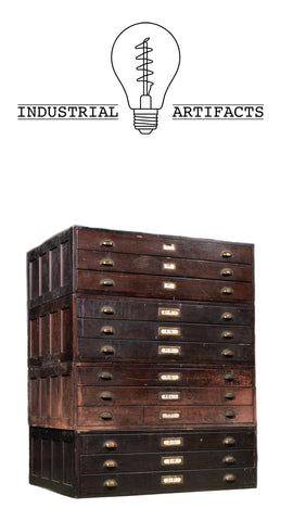 Early 20th Century 12 Drawer Industrial Flat File