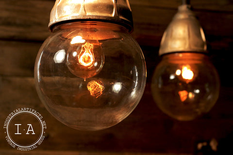 Industrial Glass Globe Pendant Lamp