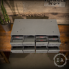 Vintage Industrial Steel Eight Drawer Filing Cabinet / Organizer