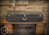 Vintage Industrial Large Lined Black Trunk by Wm. Schuessler Chicago