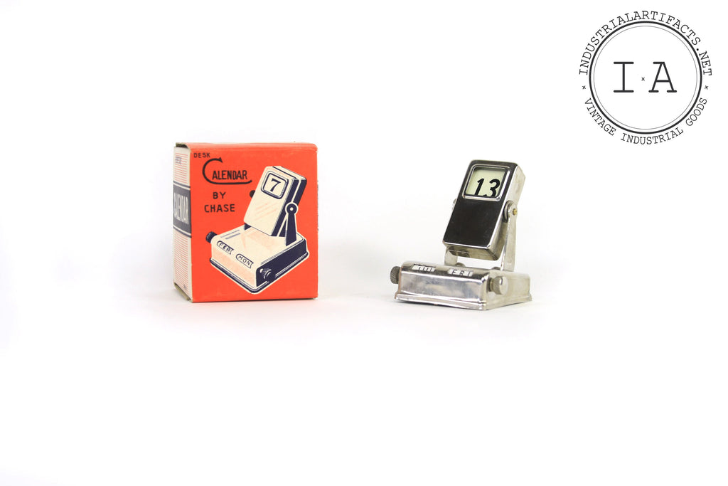 NOS Vintage Midcentury Perpetual Desk Calendar by Chase