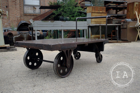 Antique Refinished Cast Iron Machine Shop Cart